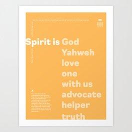 Trinity Poster Series: Spirit (3 of 3) [Color] Art Print