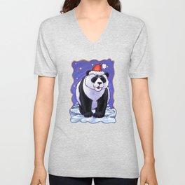 Panda Bear Christmas Unisex V-Neck