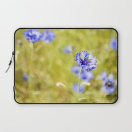 Bachelor Buttons Glowing Laptop Sleeve