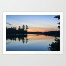 Boundary Waters Twilight Reflections Art Print