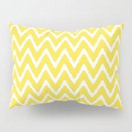 Butter Yellow Southern Cottage Ikat Chevrons Pillow Sham