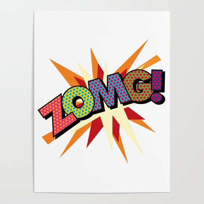 Comic Book Pop Art ZOMG Poster