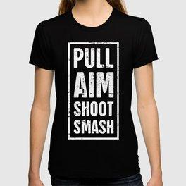 Distressed Skeet Shooting Design T-shirt