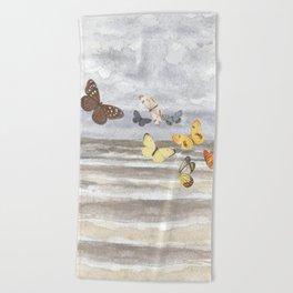 Butterfly escape Beach Towel