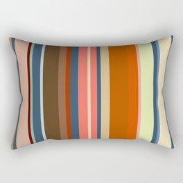 Minimal Art Retro Lines 13B Rectangular Pillow