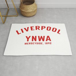 Liverpool tshirt | You'll Never Walk Alone | YNWA shirt | Premier league team Rug