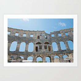 Walls and windows the amphitheatre Art Print