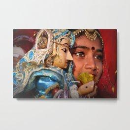 Indian eyes, Udaipur Metal Print
