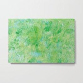 Watercolor abstract green color no.21 Metal Print