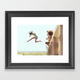 Might as Well Jump Framed Art Print