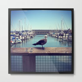 Waiting for bread. Metal Print