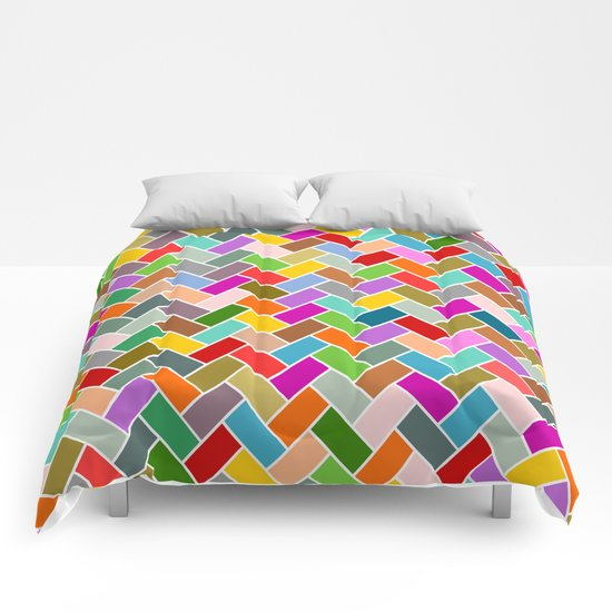 Colourful Tiled Mosaic Pattern Comforters