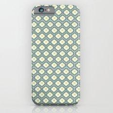 Grey Graphic Flower iPhone 6s Slim Case