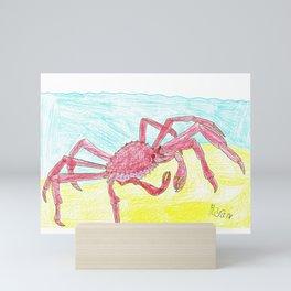 Giant Japanese Spider Crab Mini Art Print