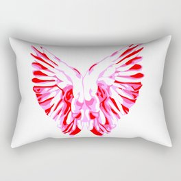 Pink Angel Wings Rectangular Pillow