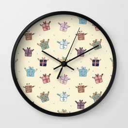 Merry Gifts Wall Clock