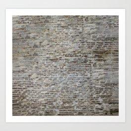 brick wall pattern and texture Art Print