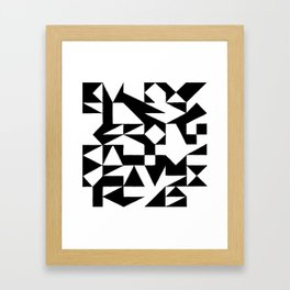 English Square (Black & White) Framed Art Print