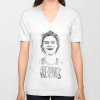 mac V-neck T-shirts featuring Mac Demarco by ophiblu