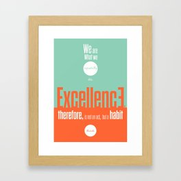 Lab No. 4- Aristotle Quote motivational typography Quote Poster Framed Art Print