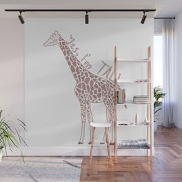 Funny giraffe quote  Wall Mural