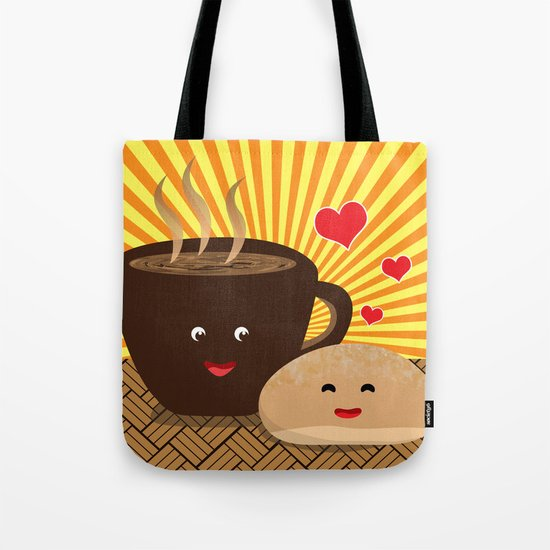 Kape at Pandesal Tote Bag