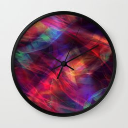 Abstract Shiny Night Lights 23 Wall Clock