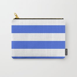 Wide stripes / royal blue Carry-All Pouch