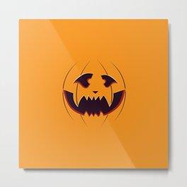 Pumpkin face Metal Print