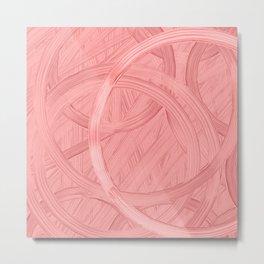 Abstract : framingo pink colors flowers Metal Print