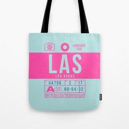 Baggage Tag B - LAS Las Vegas USA Tote Bag