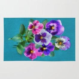Bouquet of violets Rug