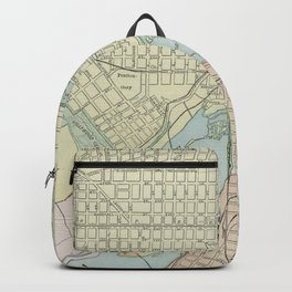 Vintage Map of Richmond VA (1901) Backpack