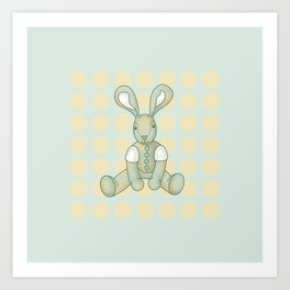 Sniffy – the Snuggly Bunny Art Print