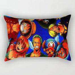 tim mugiwara luffy Rectangular Pillow