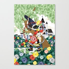 Cat wearing boots and a dial-up phone and Toco Toucan(remake) Canvas Print