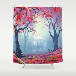TARDIS CLOUD art painting Shower Curtain
