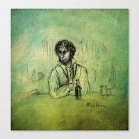 grantaire Canvas Prints featuring Grantaire, II by Flávia Marques