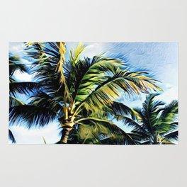 Palm Trees in the Wind (Hawaii Sky) Rug