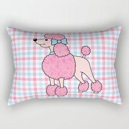 Pink Poodle Rectangular Pillow