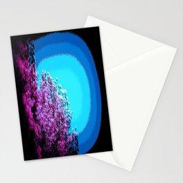 Mod Trees : Grape Purple & Blue Stationery Cards