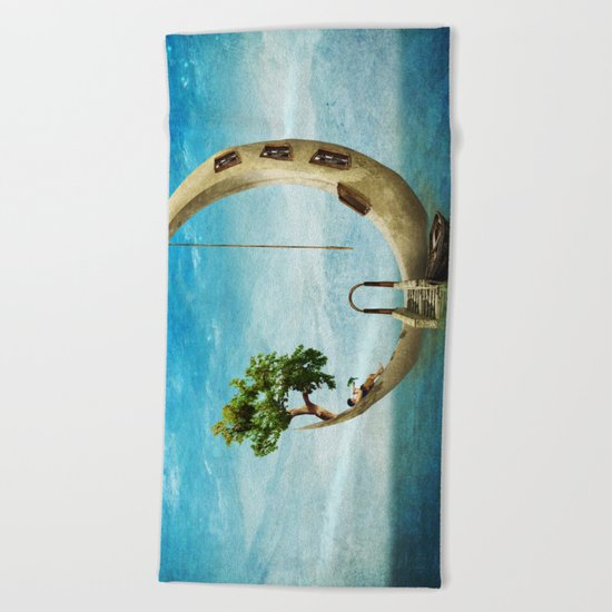 Home Sweet Moon Beach Towel