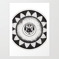 Mandala 42, The Answer To The Ultimate Question Of Life, The Universe, And Everything. Art Print