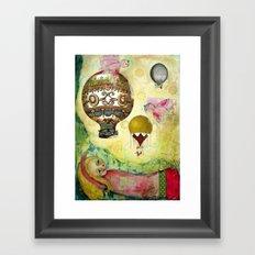 Flying Ballons Framed Art Print