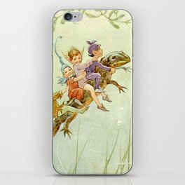 """""""The Pond Fairies"""" by Margaret Tarrant iPhone Skin"""