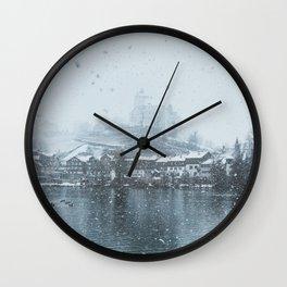 Snowy Castle Wall Clock