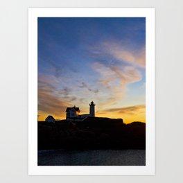 Nubble lighthouse 2 Art Print