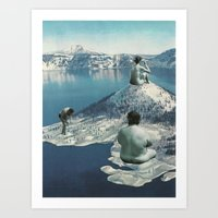 nudes Art Prints featuring Arctic Nudes by KUBISM