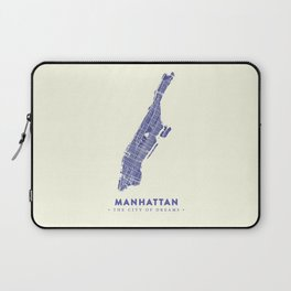 Manhattan Map NYC Laptop Sleeve