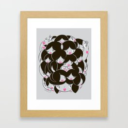 Girlie Heads! Framed Art Print
